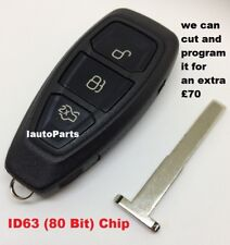 I.@.K 3 BUTTON SMART KEYLESS REMOTE KEY FOB ID63 - 433Mhz FOR FORD FOR-R01