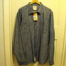 New w/ Tags Levi's Men's Marty Chambray L/S Shirt Dark Blue mens US size XXL