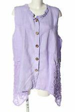 SARAH SANTOS ärmellose Bluse lila Casual-Look Damen Gr. DE 46 Blouse