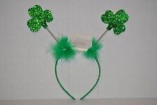 Adult St. Patrick's Day Green Glitter & Faux Fur Green Headband, One Size