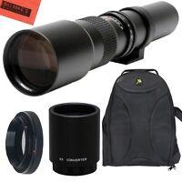 500mm 1000mm f/8 Lens + BackPack for Canon Rebel T2i, T3, T3i, T4i, T5, T5i