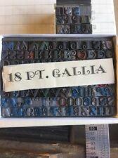 18 Pt Gallia Font Caps, Numbers. Metal Type Letterpress