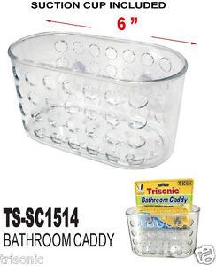 Shower Caddy Bath Bathroom Organizer Storage Basket Soap Holder W/ Suction Cups