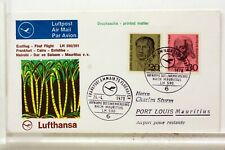 LUFTHANSA FIRST FLIGHT 1° VOL 1970 ALLEMAGNE ILE MAURICE   COVER F40