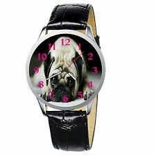 Pug Stainless Wristwatch Wrist Watch