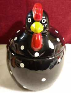 Adorable Ceramic Chicken Cookie Jar