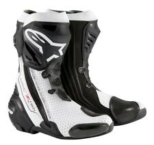 Alpinestars Supertech R Vented Boots New Gr. 44 black/white - Rennstrecke