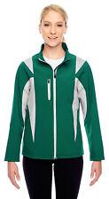 Team 365 Women's Sports Double Needle Full Zip Soft Shell Basic Jacket. TT82W