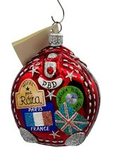Patricia Breen Journey With Me Portland Red Christmas Travel Ornament