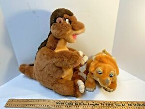 Land Before Time Plush Dinosaurs Lot 2 Little Foot & Cera Triceratops - Gund