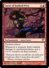 CURSE OF STALKED PREY Innistrad MTG Red Enchantment—Aura Curse RARE