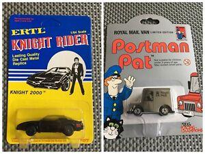 Knight Rider ERTL & Postman Pat Limited Edition Royal Mail Van Mint On Card