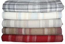 McAlister Textiles Heritage | Large Wool Feel Tartan Throw Blanket for Bed Sofa Terracotta Orange Runner (50cm X 240cm)