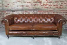 "Canapé ""Chesterfield"" 3 places en cuir"