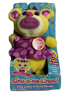 SING-A-MA-LINGS Frankie Plush Doll Sings Oh Where Has My Little Dog Gone