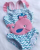 US Canis Toddler Kids Baby Girls Tankini Goldfish Swimwear Swimsuit Bathing Suit