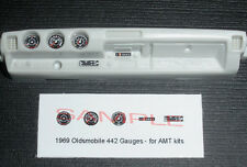 1969 OLDSMOBILE 442 W30 GAUGE FACES!! -for 1/25 scale AMT KITS