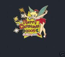 Disney Tinkerbell Merry Christmas 2005 Glitter Pin ~ LE