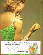 PUBLICITE  1973   JEAN D'ALBRET   parfum  Gel'CASAQUE