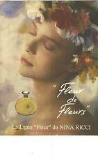 """PUBLICITE  1983  NINA RICCI la ligne de parfum """" FLEUR de FLEURS """""""