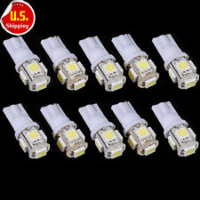 10x T10 5050 W5W 5 SMD 194 168 LED White Car Side Wedge Tail Light Lamp Bulb