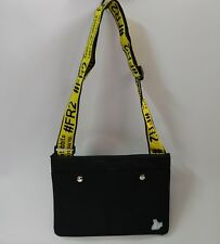 #FR2 Fxxking Rabbits LOGO Tape BLACK SACOCHE Cross-Body Shoulder Tote Bag