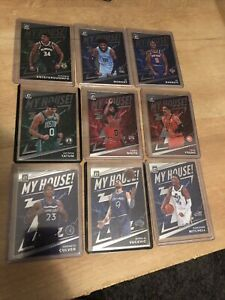 2019-20 PANINI DONRUSS OPTIC SET OF 9 MY HOUSE JA GIANNIS ANTETOKOUNMPO TATUM