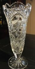 Vnt Hofbauer German Bird Byrdes Collection Stunning Crystal Footed  Vase*
