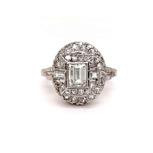 Antique Edwardian Era Diamond Ring 1.45 ctw G-VS