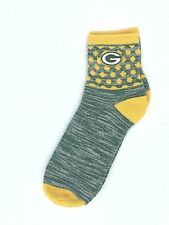 Green Bay Packers NFL For Bare Feet With Team Color Quarter Socks