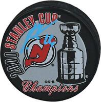 Patrik Elias New Jersey Devils Signed 2000 Stanley Cup Champs Logo Hockey Puck