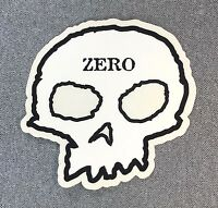 ZERO Skull Skateboard Sticker 4.25in si
