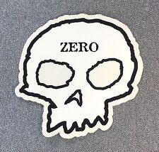 ZERO Skull Skateboard Sticker 4.25in si