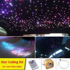 16W Car LED Light Remote Twinkle Engine Fiber Optic Star Kit 550 Strands 2M 12V