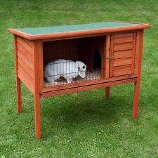Rabbit Hutch Guinea Pigs Separate Sleeping Area Easy Access Roof Removes