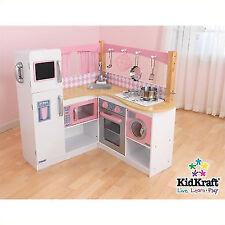 KidKraft 53185 Grand Gourmet Deluxe Kids Corner Kitchen Pretend Play Set