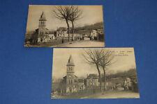 """2 CARTES POSTALES AYEN """"L'ÉGLISE, L'ÉCOLE & CHAMP DE FOIRE""""  VERS 1910, BON ETAT"""