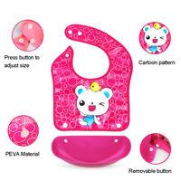 KQ_ 1x Animal Print Waterproof Baby Bib with Pocket Wipe Clean Saliva Feeding Ap