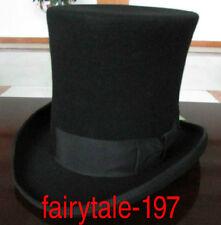 2018 Wool Black Victorian Mad Hatter Top Hat Vivi 2b609105002e