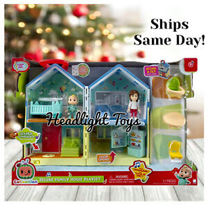 NEW Cocomelon JJ Deluxe Family House Playset 11 Pc Sounds Song Figures Toy 2021