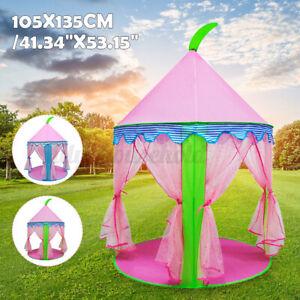 135cm Zelt Kinder Burg Prinzessinnen Vorhänge Verzierungen Spielzeug Tipi