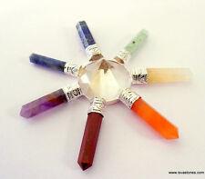 One 7 Chakra Clear Quartz Domed Energy Grid Generator Spiritual Reiki Healing