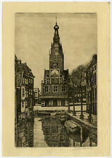Antique Print-ALKMAAR-WAAG-WEIGH HOUSE-LUTTIK OUDORP-Janssen-ca. 1920