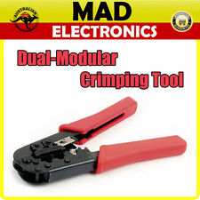 DUAL-MODULAR PHONE/INTERNET CONNECTORS CRIMPS RJ11/12 RJ45 CRIMPING TOOL HT568