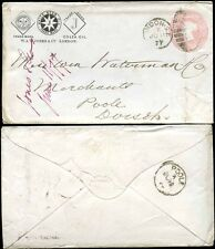 GB QV STATIONERY ADVERTISING WHITE STAR OIL JONES 1877 to POOLE