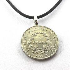 Collier pièce de monnaie France 1 franc République