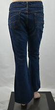 "SILVER Jeans ""PURE"" Blue LOW-RISE Whiskered FLARE JEANS Sz 27 waist"