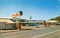 GILA BEND ARIZONA~SEA SHELL MOTEL-U S HWY 80 POSTCARD 1956 PSMK