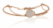 Swarovski ginger bangle white rose-gold tone plated 5274892