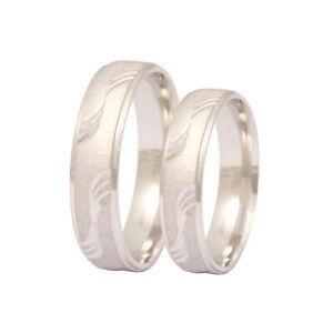 2 Partnerringe Eheringe Hochzeitsringe Trauringe Silber inkl. Gravur - S1HH